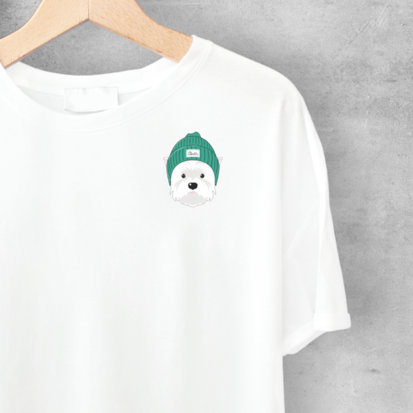 LuandZu Pánské Tričko Bílé Westík Westie West Highland White Terrier Design Dyzajn Móda Dámské Dětské Kulíšek Tričko s motivem