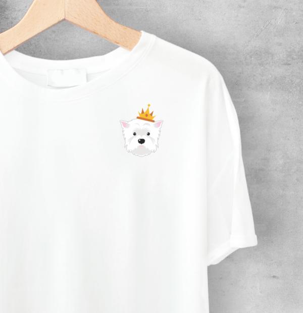 LuandZu Pánské Tričko Bílé Westík Westie West Highland White Terrier Design Dyzajn Móda Dámské Princezna Dětské Princess Tričko s Westíkem Dámské tričko s westíkem