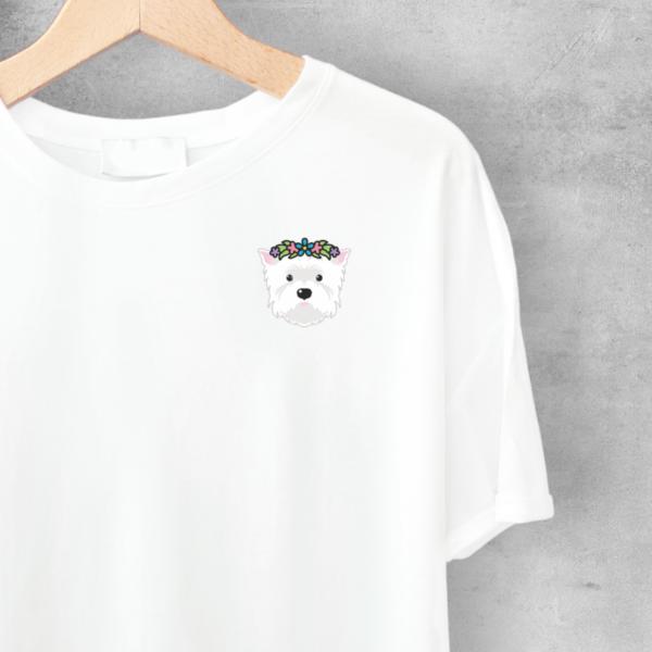 LuandZu Pánské Tričko Bílé Westík Westie West Highland White Terrier Design Dyzajn Móda Flover Lover Dámské Dětské ze 100% bavlny